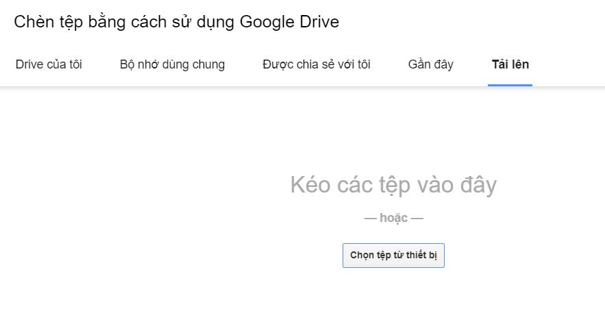Tải file lên Drive