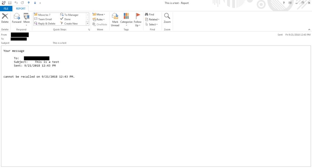 Thu hồi email đã gởi trong Outlook 4