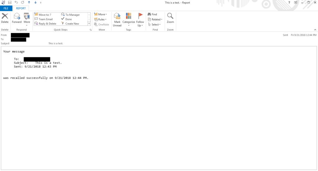 Thu hồi email đã gởi trong Outlook 5
